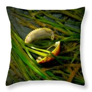 Linguini with Clams Throw Pillow by Venetta Archer