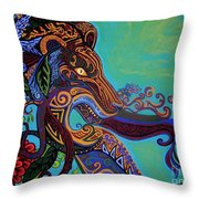Lion Gargoyle Throw Pillow by Genevieve Esson