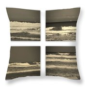 Listen To The Song Of The Ocean Throw Pillow by Susanne Van Hulst
