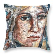 Listperson One Throw Pillow by Patricia Allingham Carlson