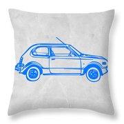 Little Car Throw Pillow by Naxart Studio