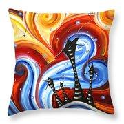 Little Village By Madart Throw Pillow by Megan Duncanson