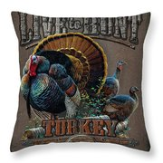 Live To Hunt Turkey Throw Pillow by JQ Licensing