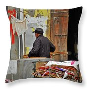 Living The Old Shanghai Life Throw Pillow by Christine Till