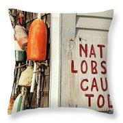 Lobster Shack. Throw Pillow by John Greim