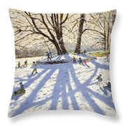 Lomberdale Hall Derbyshire Throw Pillow by Andrew Macara