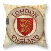 London Coat Of Arms Throw Pillow by Debbie DeWitt
