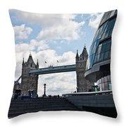 London Tower Bridge Throw Pillow by Dawn OConnor