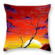 Lonely Soul by MADART Throw Pillow by Megan Duncanson