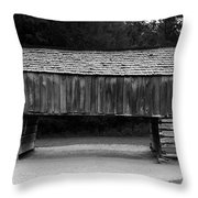 Long Barn Throw Pillow by David Lee Thompson