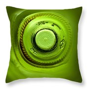 Looking deep into the bottle Throw Pillow by Frank Tschakert