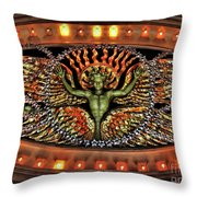 Looking Up From The Applause Throw Pillow by Joan  Minchak