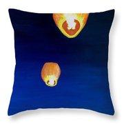 Lorraine's Lanterns Throw Pillow by Jack Skinner