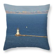 Los Angeles Harbor Light - Angel's Gate - California Throw Pillow by Christine Till