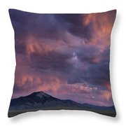 Lost River Sunset Throw Pillow by Leland D Howard