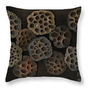 Lotus Pods Throw Pillow by Christian Slanec