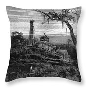 Louisiana: Steamboat Wreck Throw Pillow by Granger
