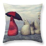 Lousy Weather Throw Pillow by Jutta Maria Pusl