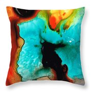 Love And Approval Throw Pillow by Sharon Cummings