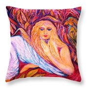 Love Birds  2  -  Art Deco Throw Pillow by Gunter  Hortz