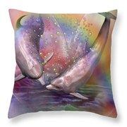 Love Bubbles Throw Pillow by Carol Cavalaris