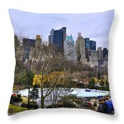 Love In Central Park Too Throw Pillow by Randy Aveille