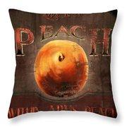 Love Is A Peach Throw Pillow by Joel Payne
