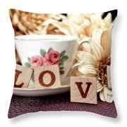 Love Throw Pillow by Tom Mc Nemar