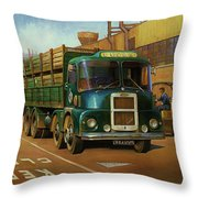 Lucas Scammell Routeman I Throw Pillow by Mike  Jeffries