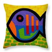 Lucky Fish II  Throw Pillow by John  Nolan