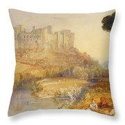 Ludlow Castle  Throw Pillow by Joseph Mallord William Turner
