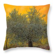 L'ulivo Tra Le Vigne Throw Pillow by Guido Borelli