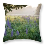 Lupine Field Throw Pillow by Susan Cole Kelly