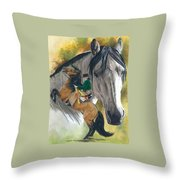 Lusitano Throw Pillow by Barbara Keith