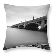 Macarthur Bridge To Belle Isle Detroit Michigan Throw Pillow by Gordon Dean II