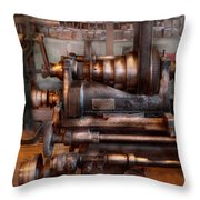 Machinist - Steampunk - 5 Speed Semi Automatic Throw Pillow by Mike Savad