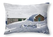 Madison Spring Hut- White Mountains New Hampshire Throw Pillow by Erin Paul Donovan