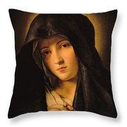 Madonna Throw Pillow by Il Sassoferrato