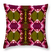 Magenta Crystal Pattern Throw Pillow by Amy Vangsgard