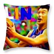 Magical Jeremy Lin Throw Pillow by Paul Van Scott
