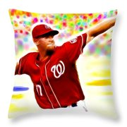 Magical Stephen Strasburg Throw Pillow by Paul Van Scott