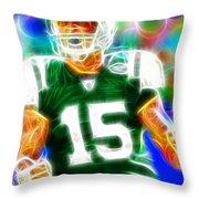 Magical Tim Tebow Throw Pillow by Paul Van Scott