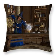 Magician Throw Pillow by Corey Ford