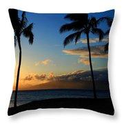 Mai Ka Aina Mai Ke Kai Kaanapali Maui Hawaii Throw Pillow by Sharon Mau