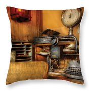 Mailman - In The Office Throw Pillow by Mike Savad