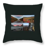 Maine Acadia National Park Landscape Photography Throw Pillow by Juergen Roth