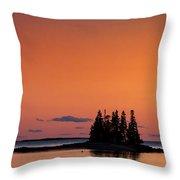 Maine Coastal Island Throw Pillow by John Greim
