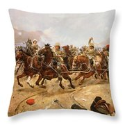 Maiwand Throw Pillow by Richard Caton II Woodville