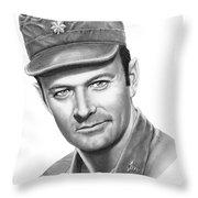 Major Frank Burns Throw Pillow by Murphy Elliott