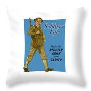 Make The Regular Army Your Career Throw Pillow by War Is Hell Store